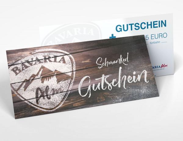 15 Euro Gutschein | Bavaria Alm / Bavarium